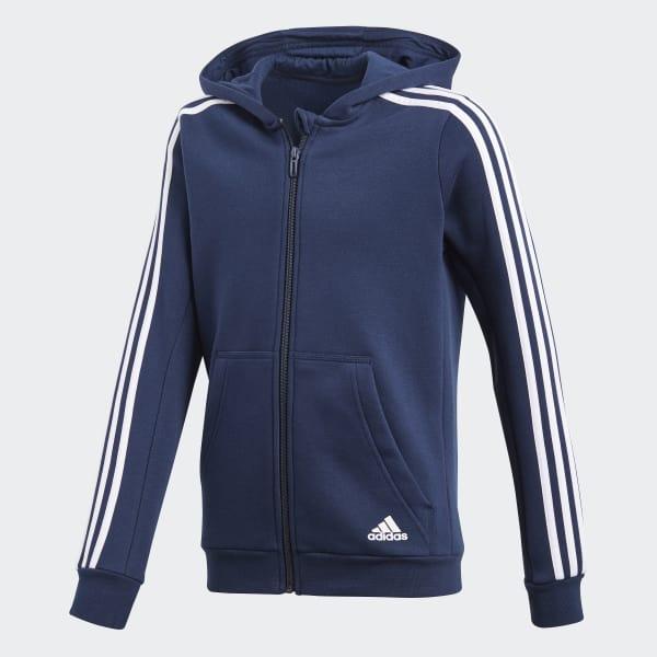 Essentials 3-Stripes Hoodie blauw CF6581