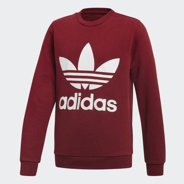 Sweat-shirt Trefoil Crew rouge CF8565