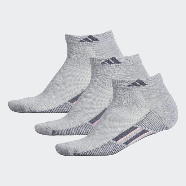 Climacool Superlite Stripe Low-Cut Socks 3 Pairs Grey CJ0570