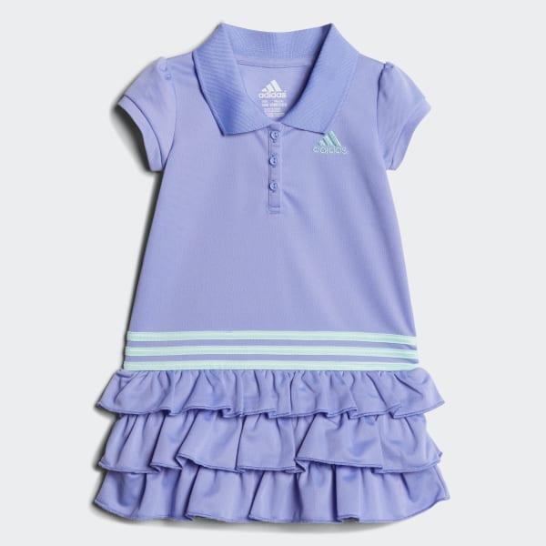 Ruffle Polo Dress Purple CJ2985