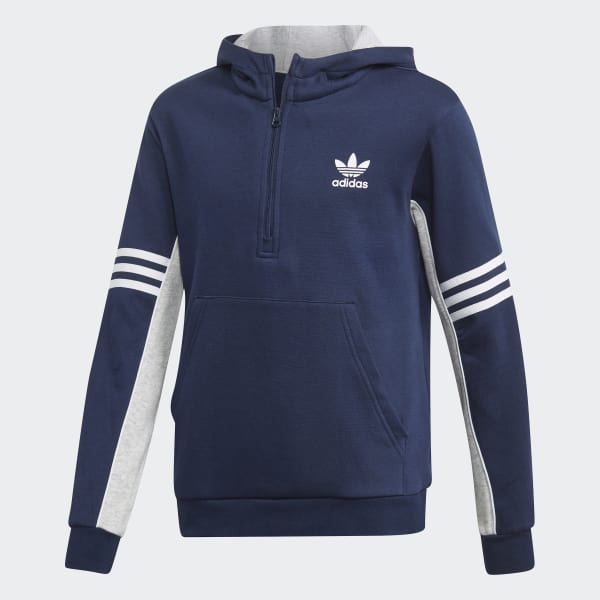 Authentics 1/2 Zip Hoodie Blue DH4850