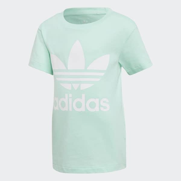 Camiseta Trefoil Turquesa D98853