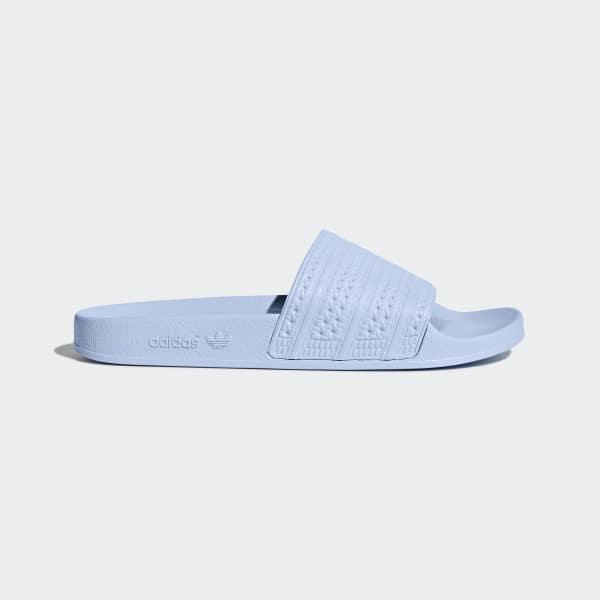 Adilette Slippers blauw BA7539