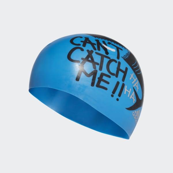 Graphic Badekappe blau AY2930