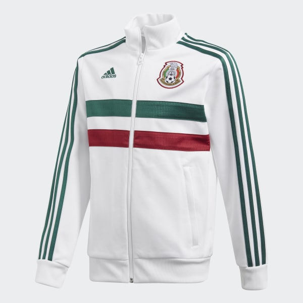 Chamarra 3 Franjas México 2018 Blanco CF0530