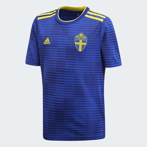 Schweden Auswärtstrikot blau BR3835