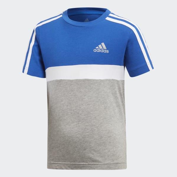 Cotton Colorblock T-Shirt blau DJ1484