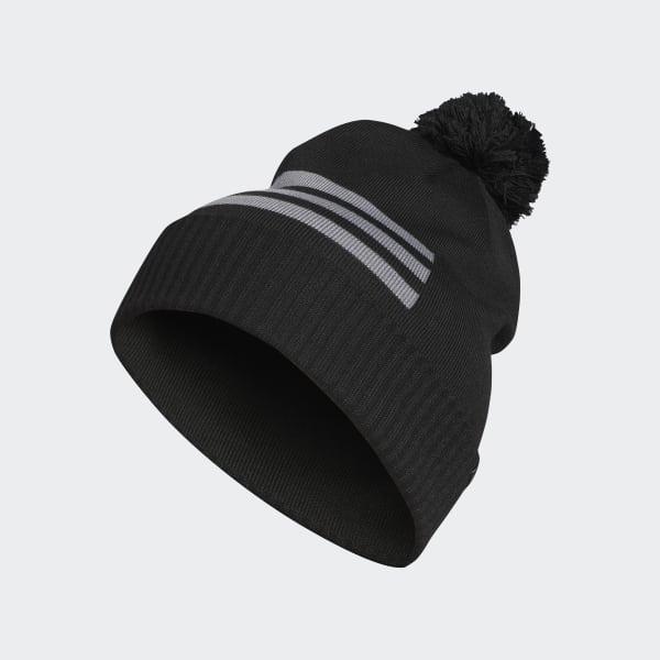 3-Stripes Pompom Beanie Black DN2216