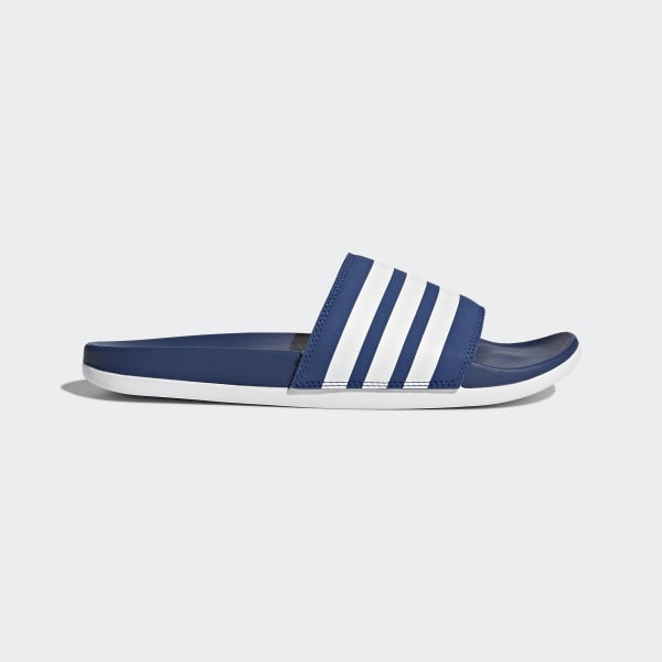 Ciabatte Adilette Cloudfoam Plus Stripes Blu AP9968