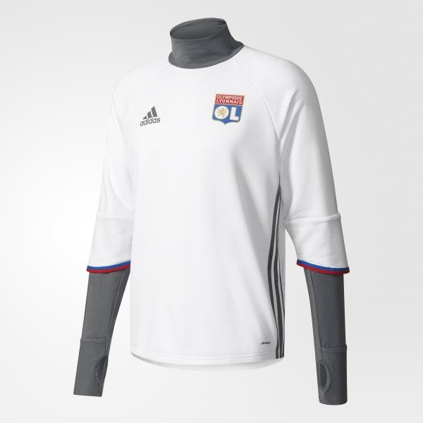 Olympique Lyon Trainingsoberteil weiß AP1418