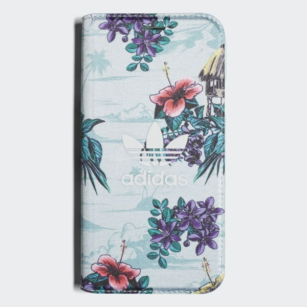 Floral Booklet Case iPhone X Blue CJ8328