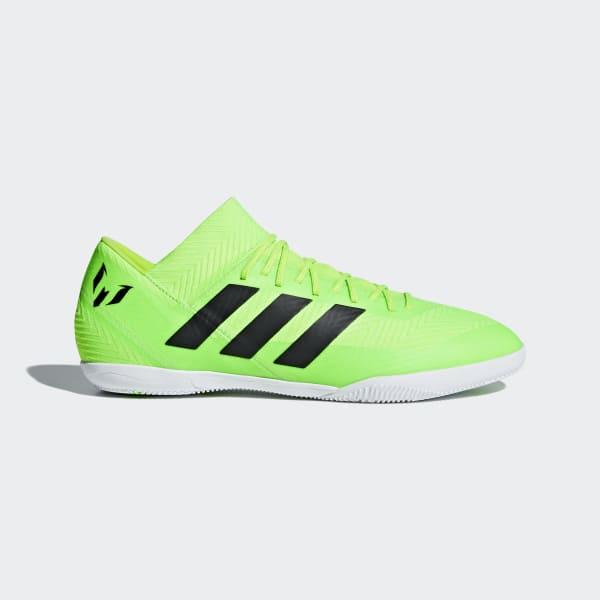 Calzado de Fútbol Nemeziz Messi Tango 18.3 Bajo Techo SOLAR GREEN/CORE BLACK/SOLAR GREEN AQ0618