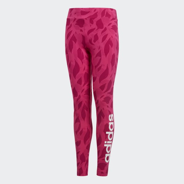 Linear Printed Legging roze DJ1307
