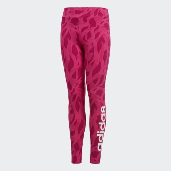 Linear Printed Tights Pink DJ1307