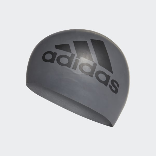silicone graphic swim cap Grey CE9931