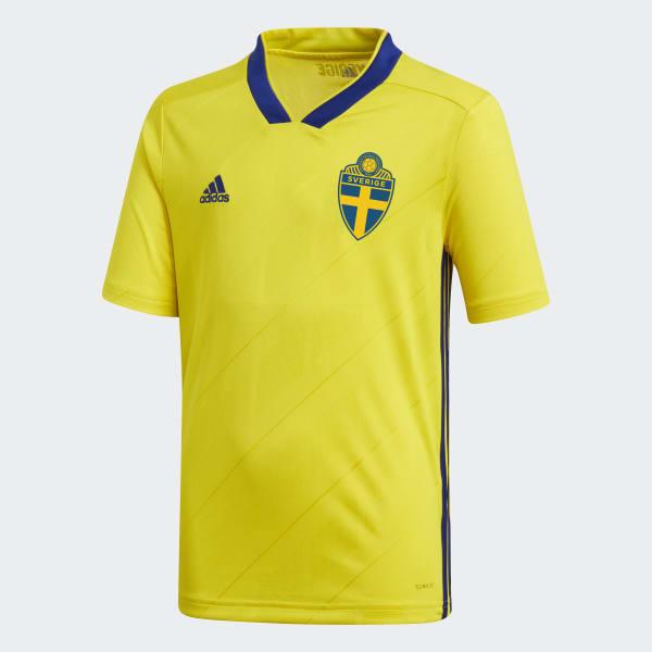 Camiseta primera equipación Suecia Amarillo BR3830