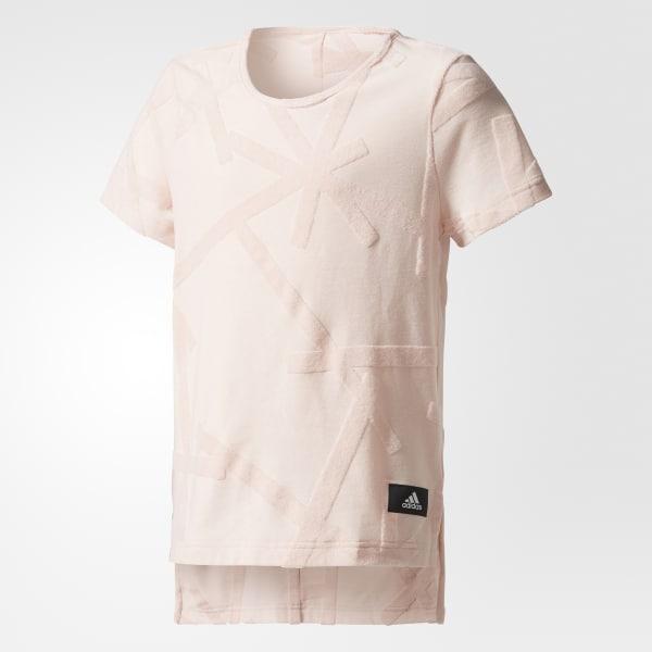 ID Allover Print T-Shirt rosa CF0976