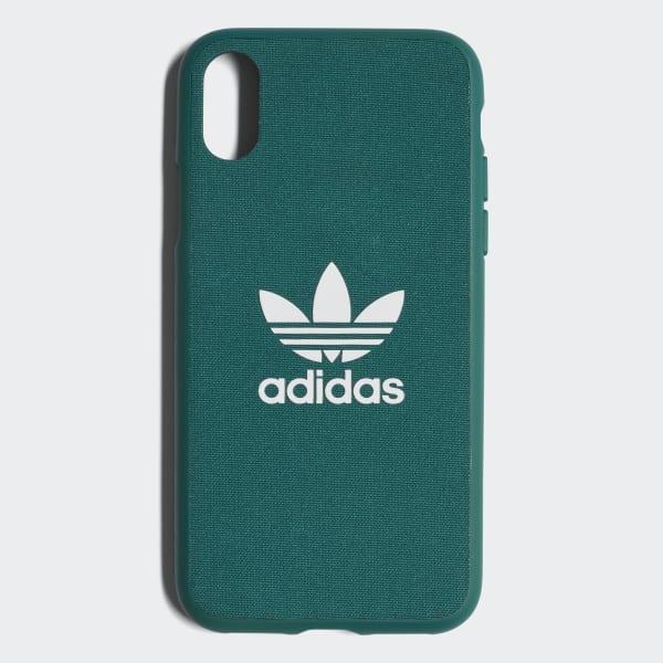 Coque emboîtable Adicolor iPhone X vert CJ6194