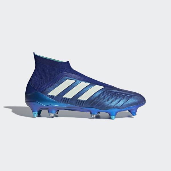 Bota de fútbol Predator 18+ césped natural húmedo Azul CP9246