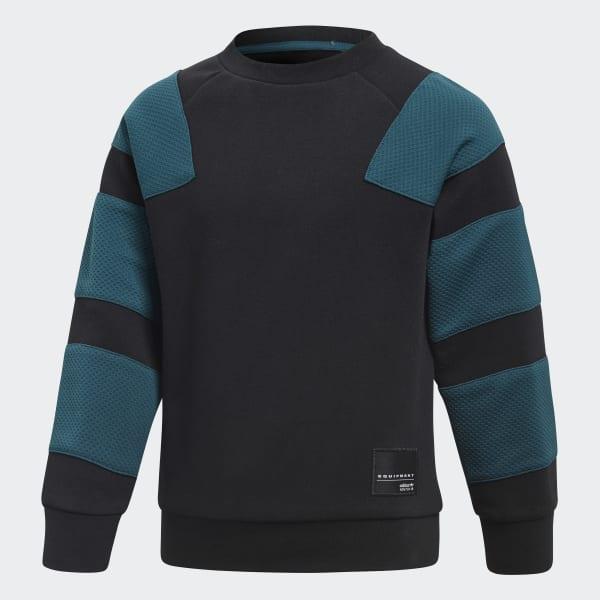 Conjunto sudadera cuello redondo y pantalón EQT Negro CD8429