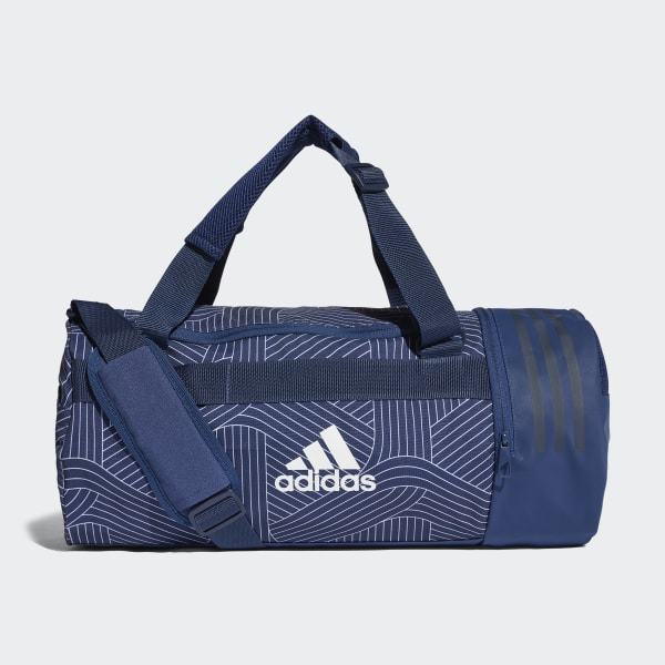 Convertible 3-Stripes Duffel Bag Small Blue CG1539
