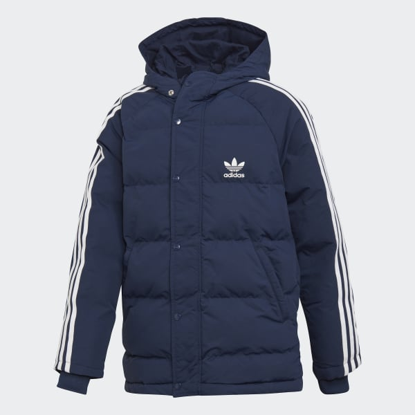 Trefoil Synthetic Down Jacket Blue DH2687