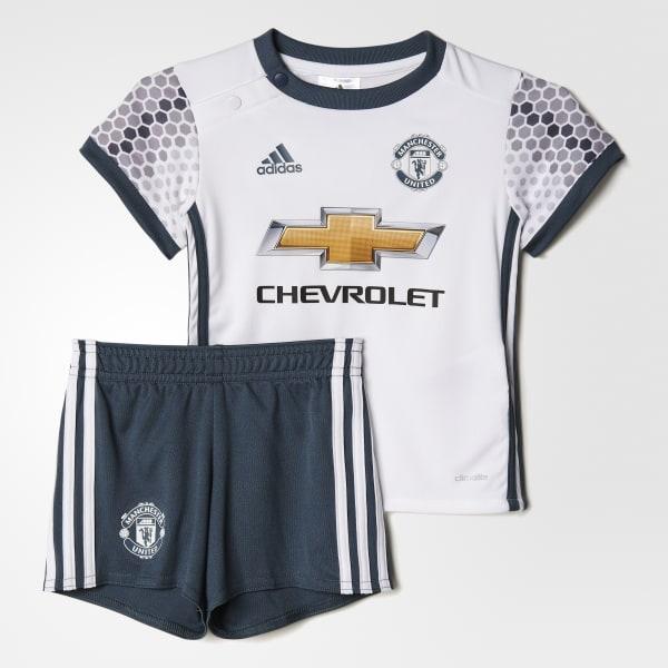 Miniconjunto tercera equipación Manchester United FC Blanco AI6661