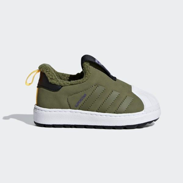 Superstar Winter 360 Shoes Green B37271