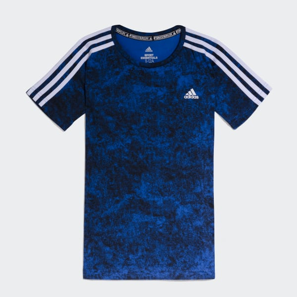 Remera 3 Tiras Azul CW2045
