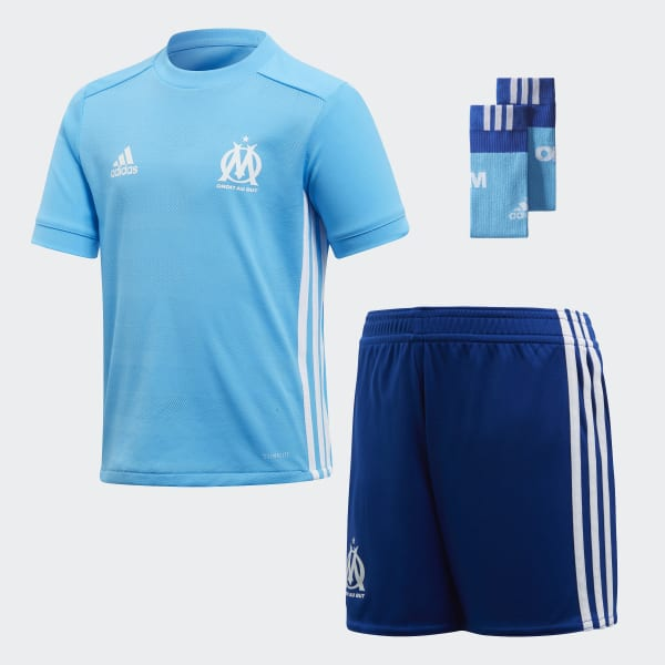 Olympique Marseille Mini-Auswärtsausrüstung blau BK5399