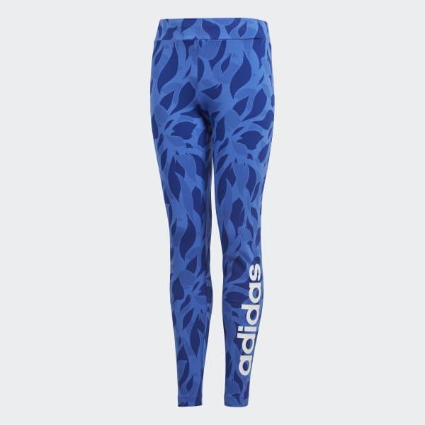 Linear Printed Legging blauw DJ1308