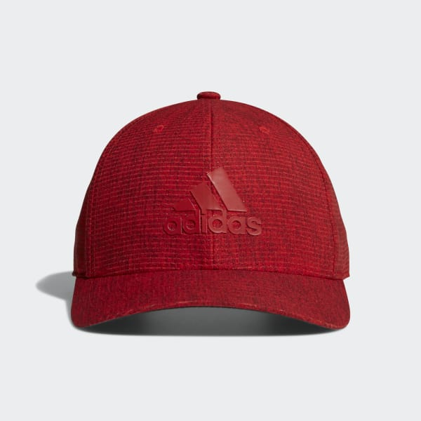 Heathered Snapback Hat Red CY6688