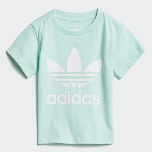 Trefoil T-Shirt türkis D96101