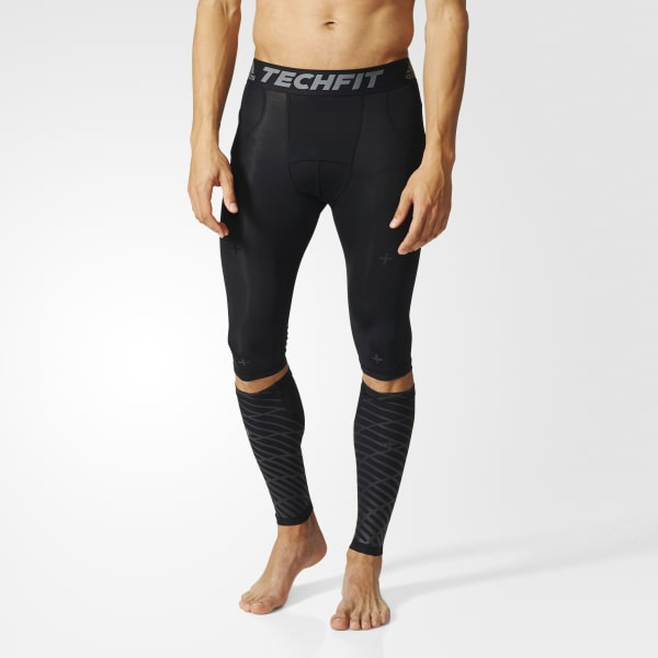Techfit Recovery 3-in-1 Short Tights and Calf Warmers Black B45500