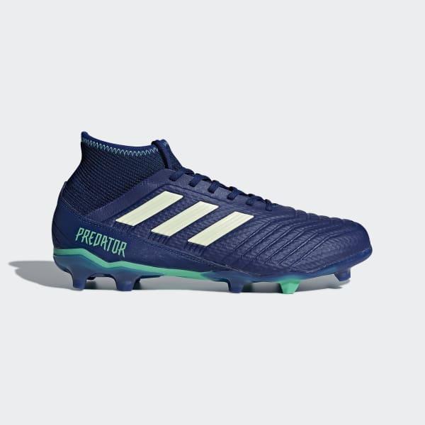 Zapatos de Fútbol Predator 18.3 Terreno Firme Azul CP9304