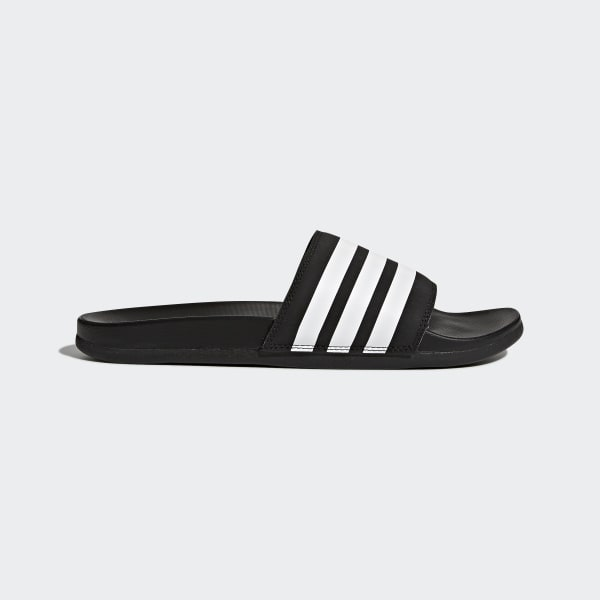 Adilette Cloudfoam Plus Stripes Slides Black AP9971