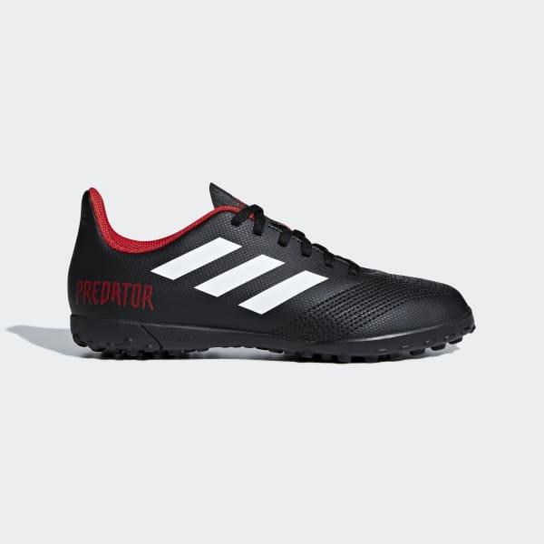 Calzado de fútbol Predator Tango 18.4 Césped Artificial Niño Negro DB2338