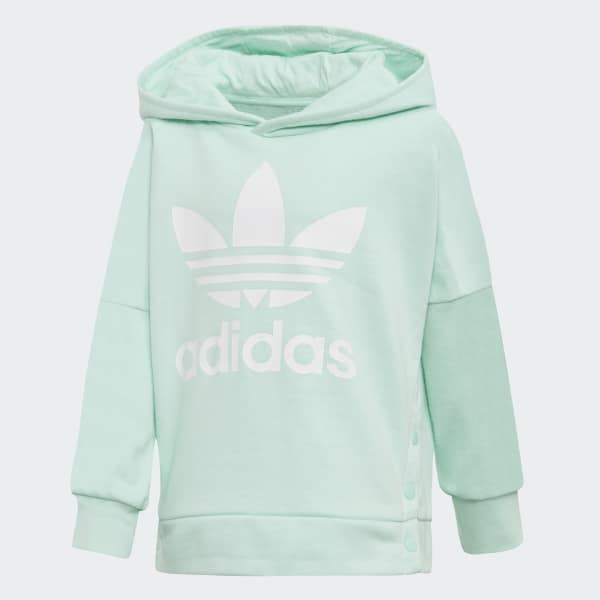 Snap Hoodie Clear Mint / White D98882