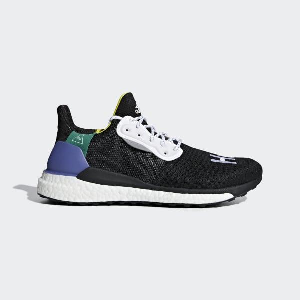 Pharrell Williams x adidas Solar Hu Glide Schoenen zwart BB8041