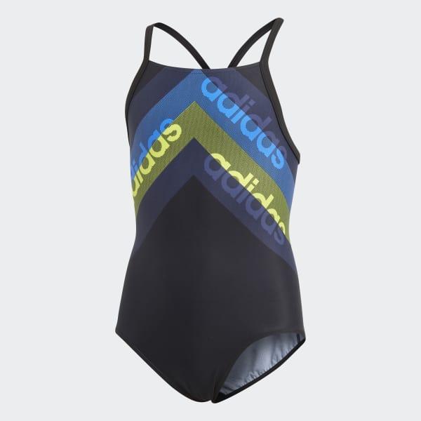 athly light graphic swimsuit girls Black CV3602