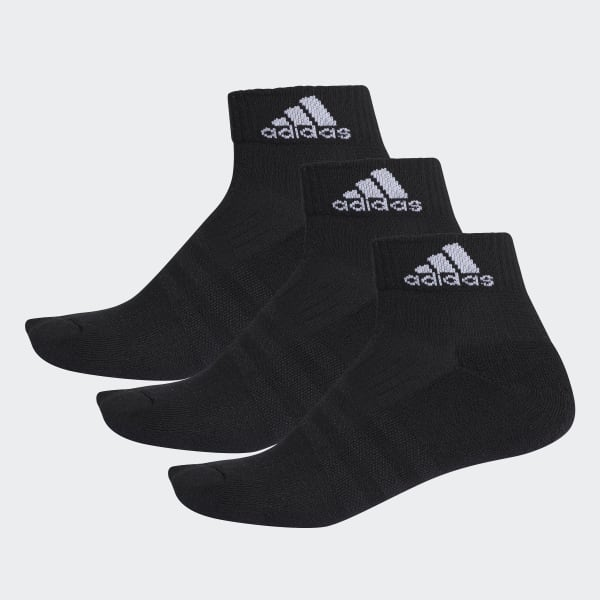 3-Stripes Performance Ankle Socks 3 Pairs Black AA2286