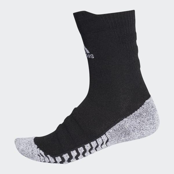Alphaskin Traxion Lightweight Cushioning Crew Socks Black CV7576