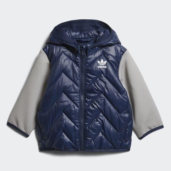Chaqueta con capucha Trefoil Midseason Azul D96075