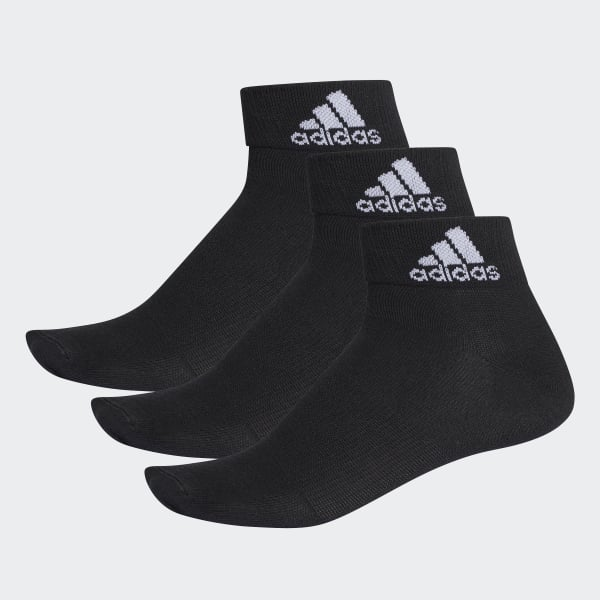 Performance Thin Ankle Socks 3 Pairs Black AA2321