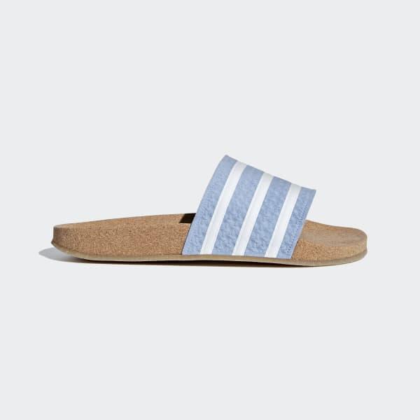 Adilette Cork Slippers blauw BC0221