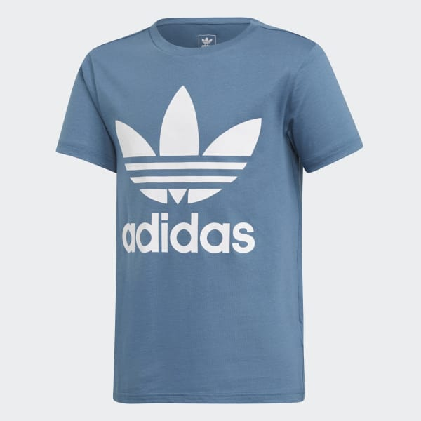 Trefoil T-shirt blauw DH2472