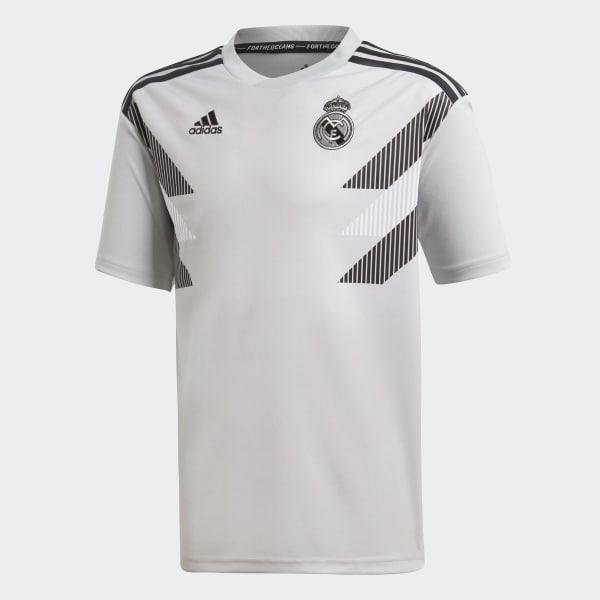 Jersey Prepartido Real Madrid Local Niño 2018 STONE/BLACK CW5827