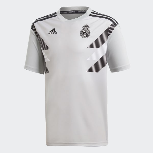 Real Madrid Home Pre-Match Jersey Grey CW5827