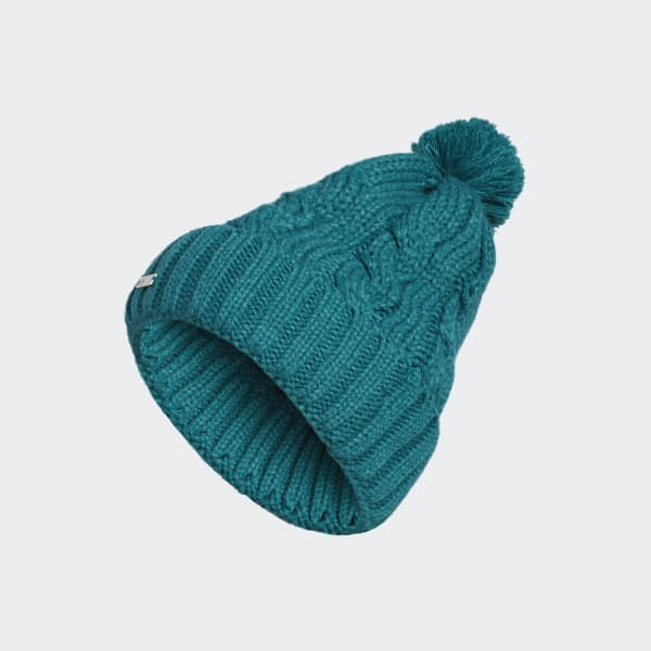 Solid Pompon Beanie groen CW6411