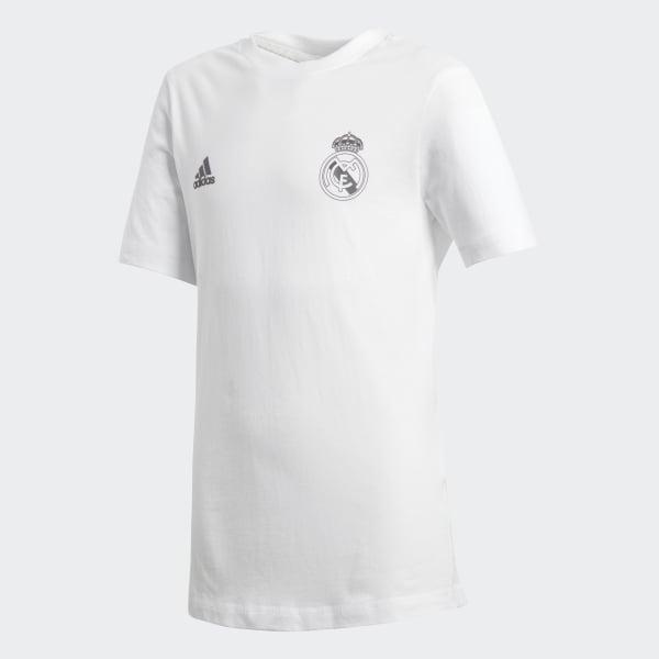 Camiseta Real Madrid Infantil Branco CV6190